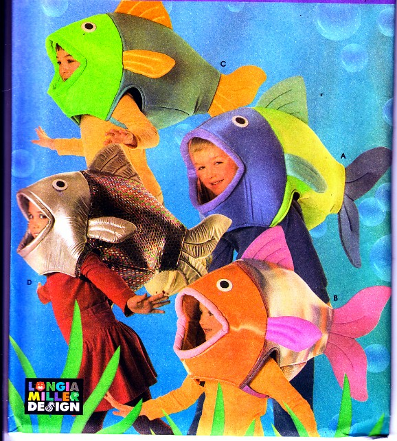 Simplicity 4926 cute little fish boy girl sewing childs for Fish head costume